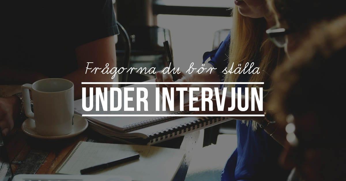 Frågorna att ställa vid en anställningsintervju